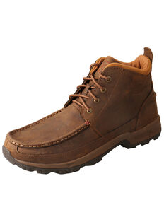 Twisted X Men's Hiker Work Boots - Soft Toe, Brown, hi-res