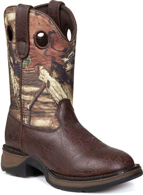 Durango Boys' Lil' Durango Camo Cowboy Boots - Round Toe, Camouflage, hi-res