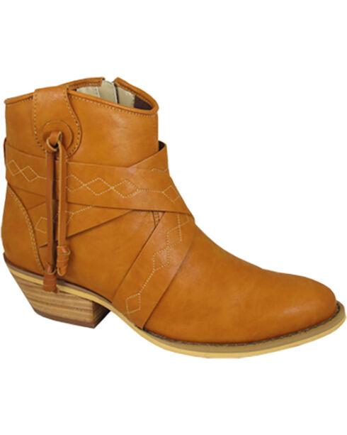Smoky Mountains Women's Molly Short Western Boots - Medium Toe , Tan, hi-res