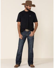 Rock & Roll Denim Men's Double Barrel Dark Relaxed Straight Jeans , Blue, hi-res