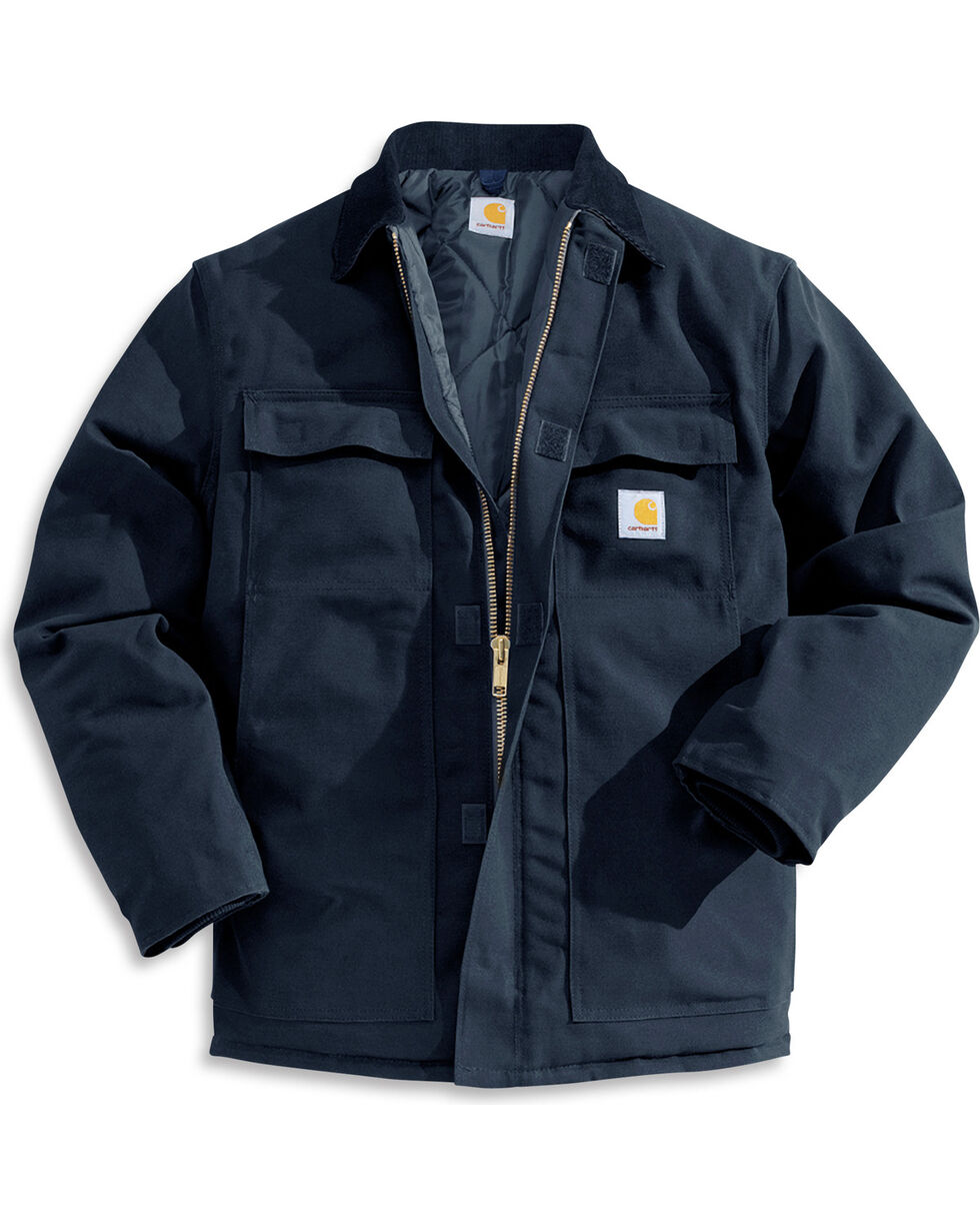 Carhartt Traditional Duck Work Jacket, Navy, hi-res