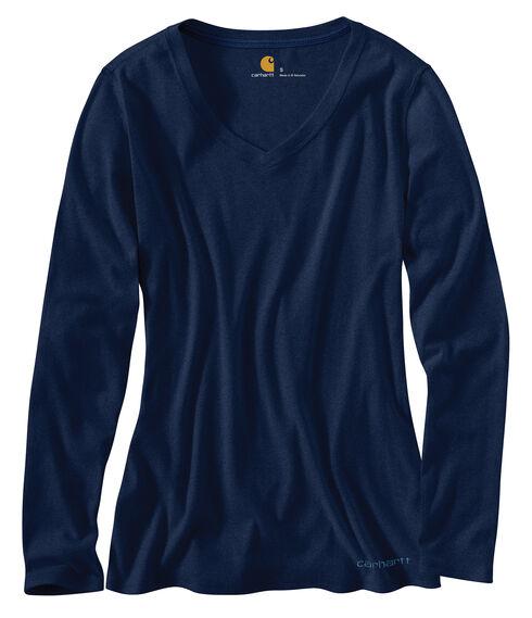 Carhartt Calumet Long Sleeve V-Neck Shirt, Indigo, hi-res