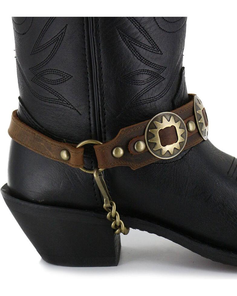 Almax Women's Studded Leather Boot Bracelet, Brown, hi-res