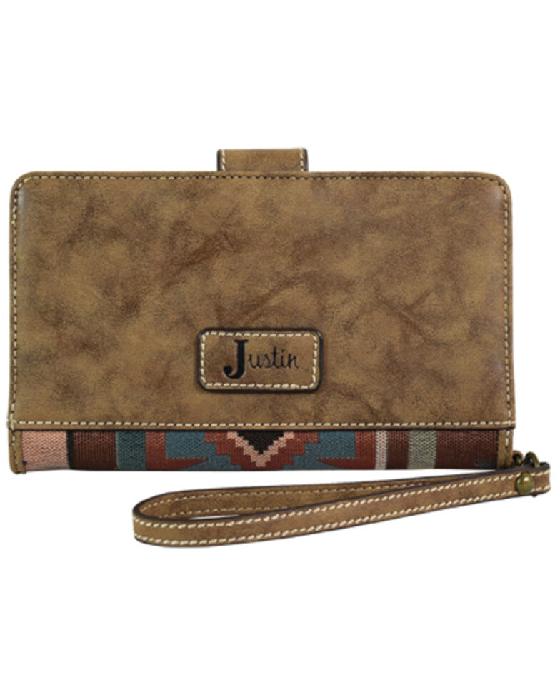 Trendition Women's Justin Aztec Jacquard Wallet, Brown, hi-res
