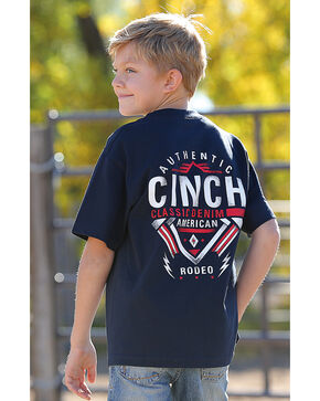 Cinch Boys' Navy American Rodeo Tee , Navy, hi-res