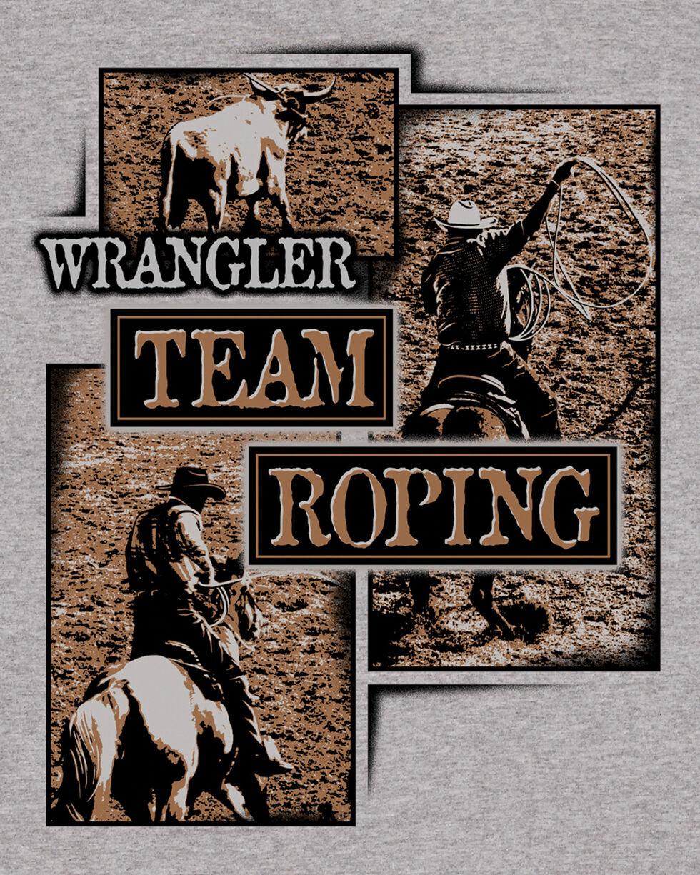 Wrangler Men's Grey Team Roping Tee , Grey, hi-res