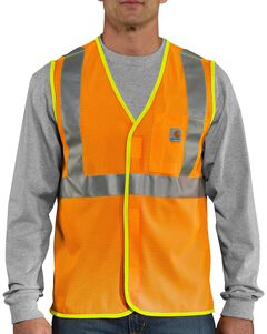 Carhartt High-Viz Class 2 Vest - Big & Tall, Orange, hi-res