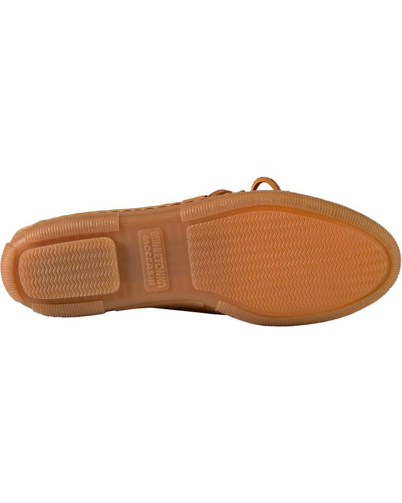 Women's Minnetonka Moosehide Fringed Kiltie Moccasins, Natural, hi-res