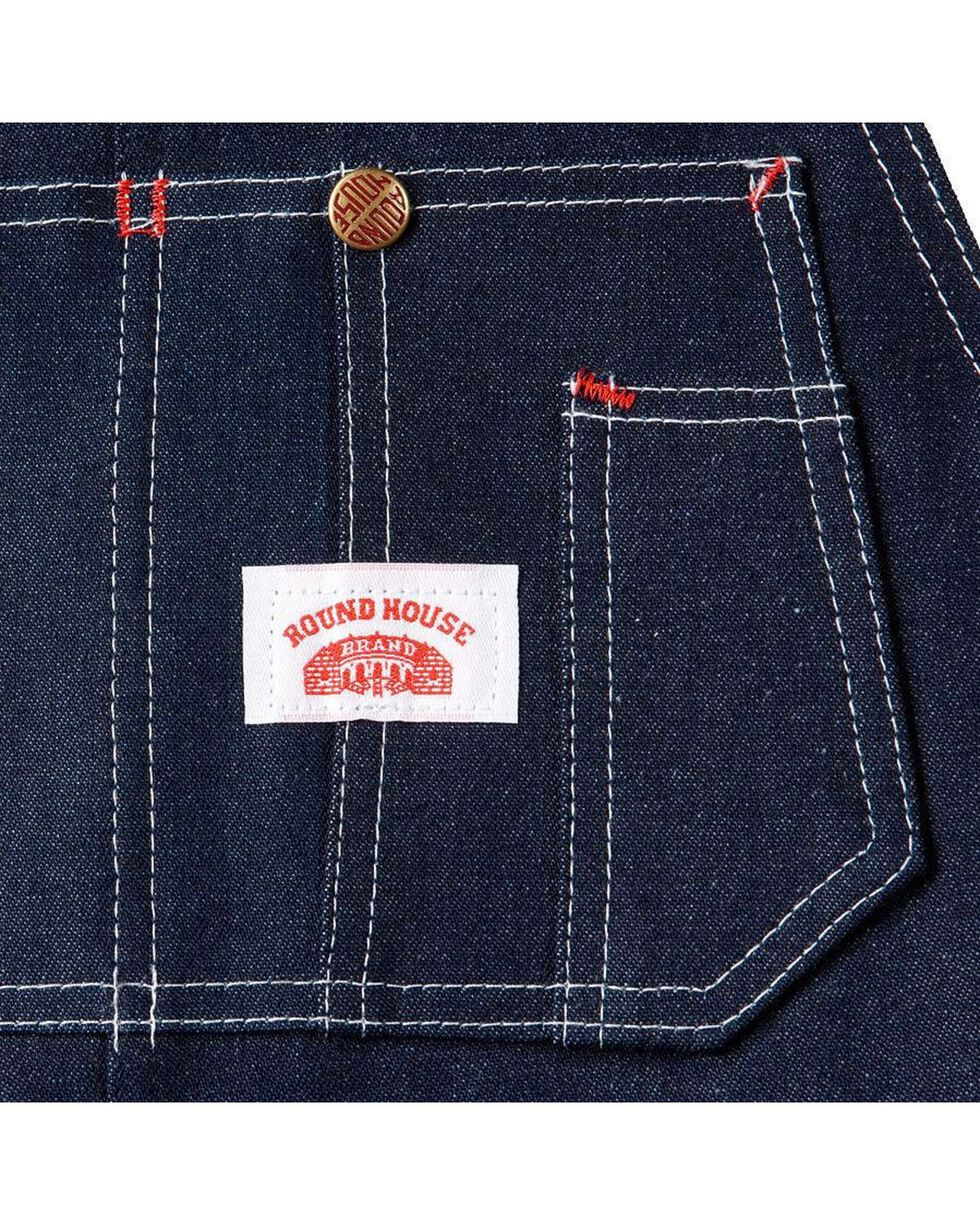 "U.S.A. Made Round House Rigid Denim Overalls - Reg, Big. Up to 50"" Waist, Rigid Indigo, hi-res"