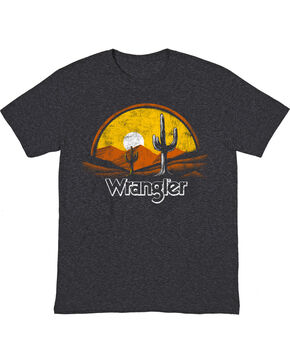 Wrangler Men's Black Sunset Western Tee , Black, hi-res