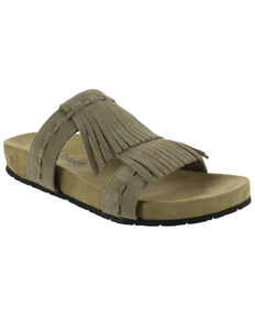 Minnetonka Women's Daisy Sandals, Taupe, hi-res