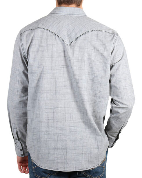Cody James Men's Dark Shadow Long Sleeve Shirt, Grey, hi-res