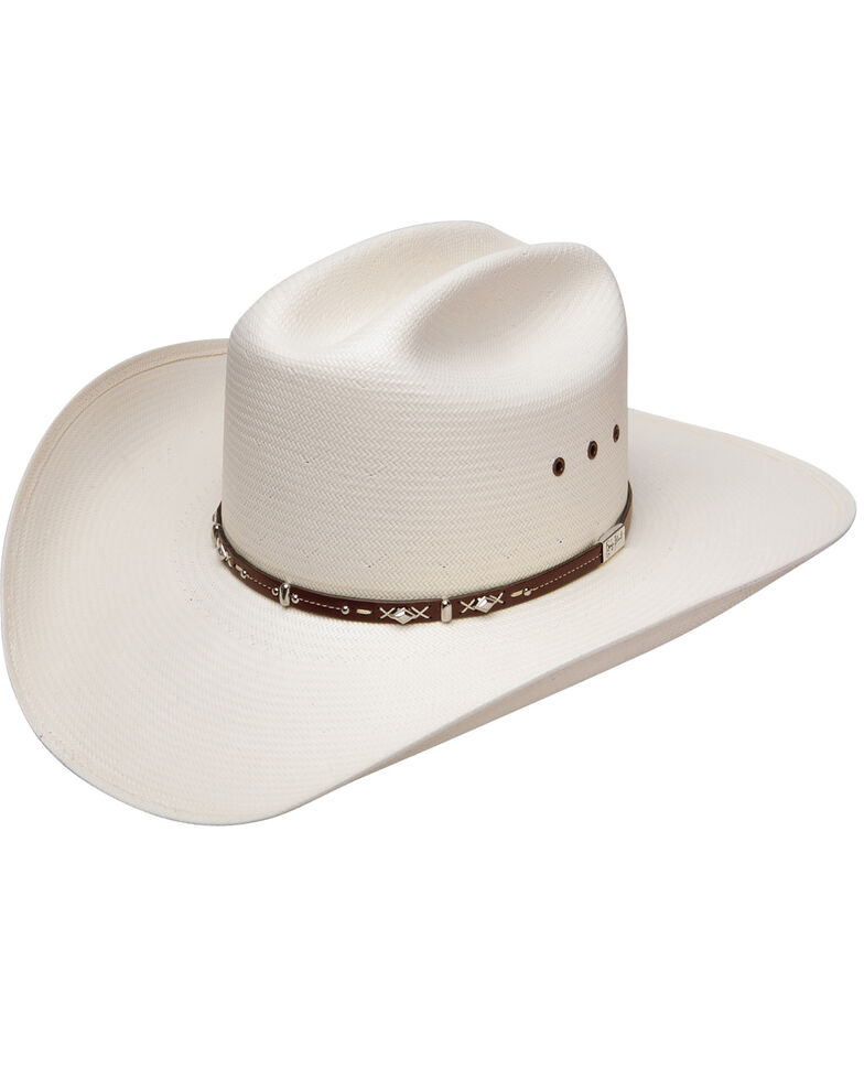 Resistol Men's George Strait Hazer 10X Shantung Straw Cowboy Hat, Natural, hi-res