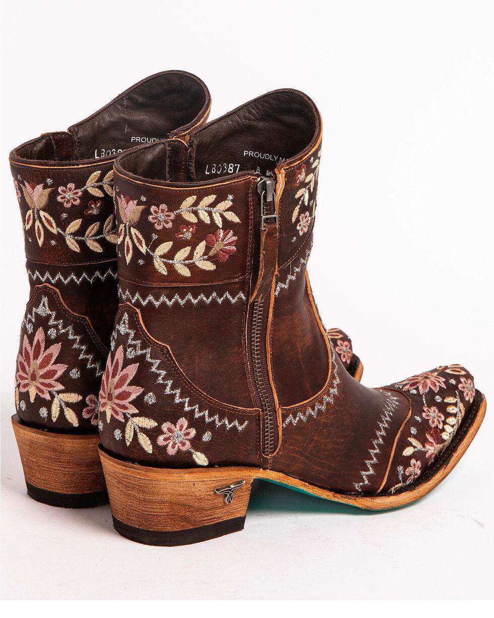 Lane Women's Landrun Gardens Floral Embroidered Western Boots - Snip Toe, Black, hi-res