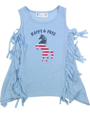 Shyanne Toddler Girls' Happy & Free Tank , Light/pastel Blue, hi-res