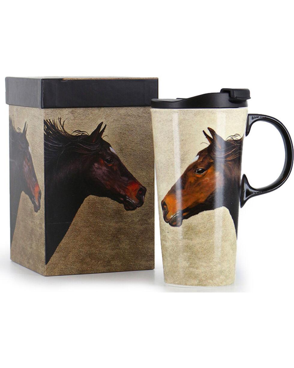 Evergreen Horse on the Run Ceramic Mug, No Color, hi-res