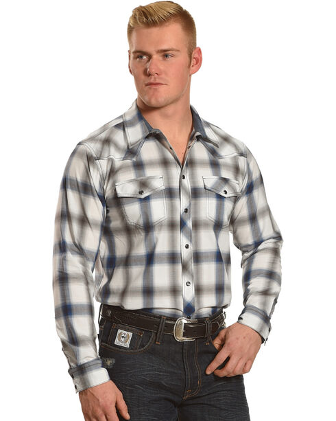 Cody James Men's Big Bend Plaid Long Sleeve Shirt - Tall, Turquoise, hi-res