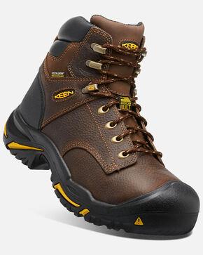 Keen Men's Mt. Vernon Waterproof Work Boots - Round Toe, Brown, hi-res