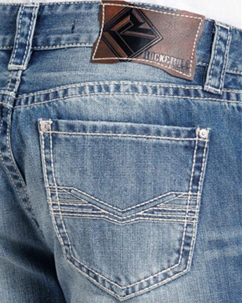 Rock & Roll Cowboy Men's Double Barrel Relaxed Fit Jeans - Straight Leg, Blue, hi-res
