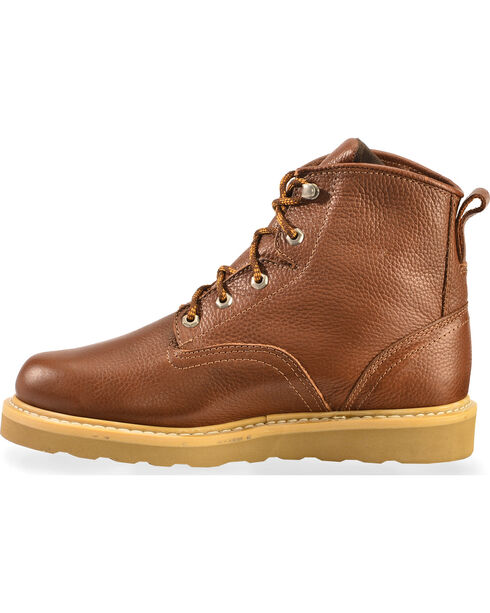 """American Worker Men's 6"""" Lace-Up Work Boots - Soft Toe, Russett, hi-res"""