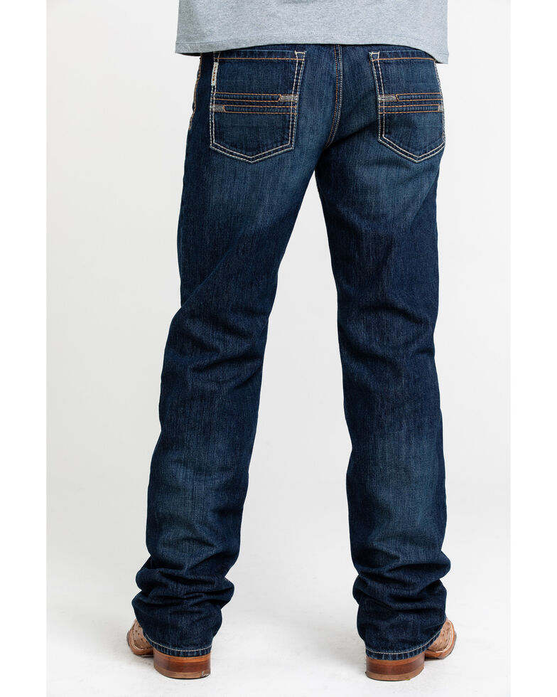 Cinch Men's Grant Dark Stone Mid Relaxed Bootcut Jeans , Indigo, hi-res