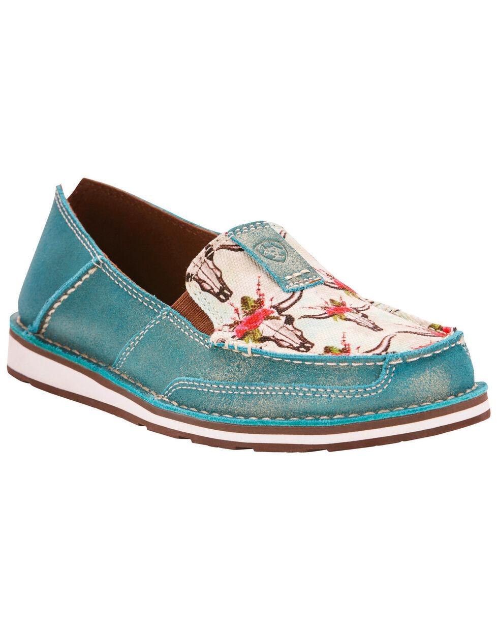 Ariat Women's Turquoise Cruiser Shoes , Light Blue, hi-res