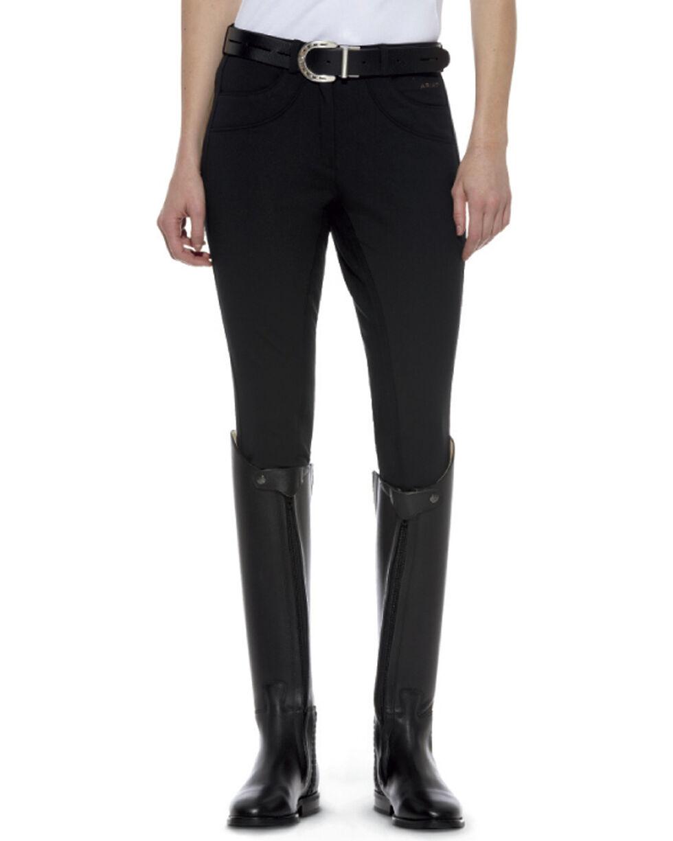 Ariat Women's Olympia Zip-Front Regular Rise Full Seat Breeches, Black, hi-res