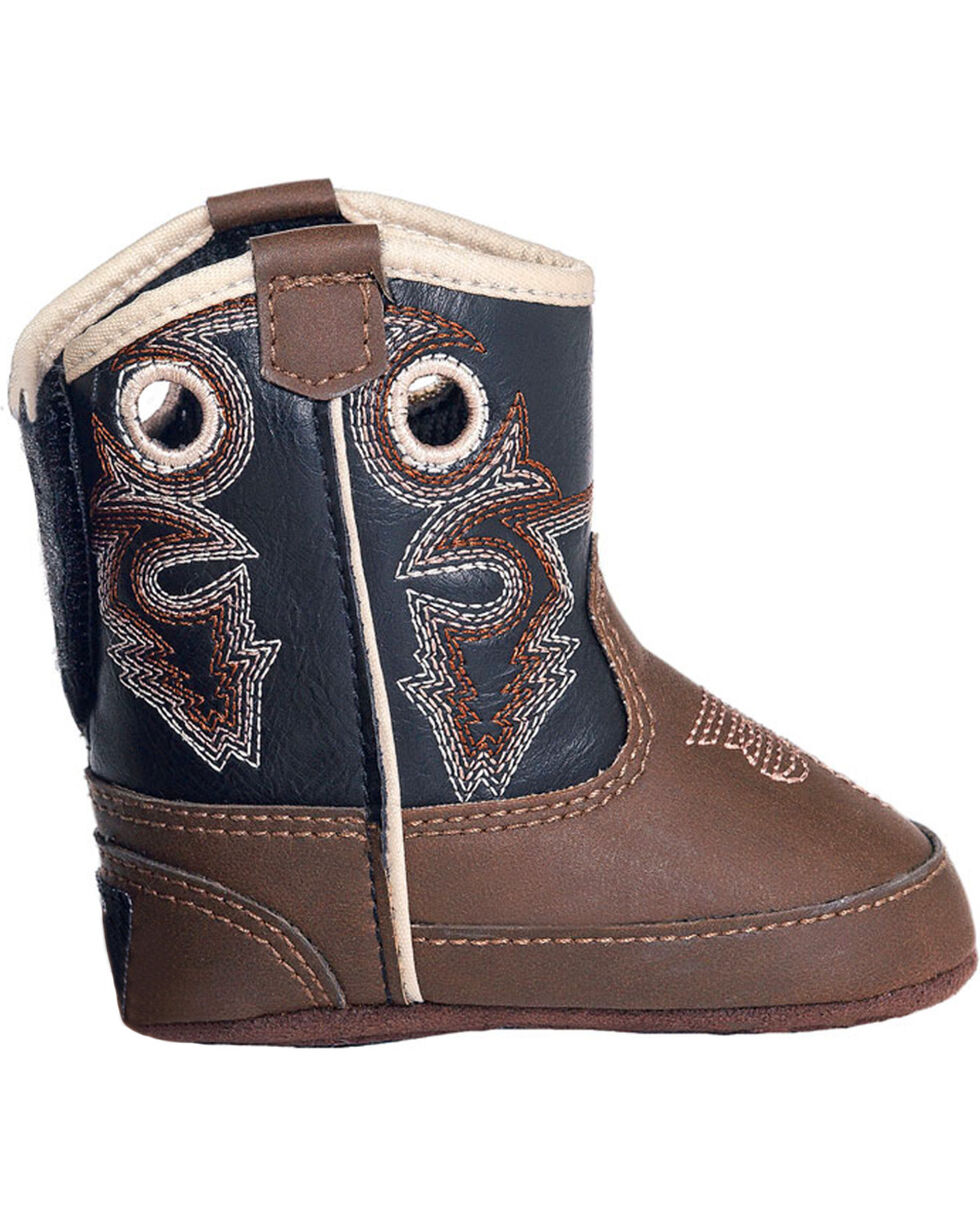 Double Barrel Infant Boys' Trace Baby Bucker Boots, Brown, hi-res