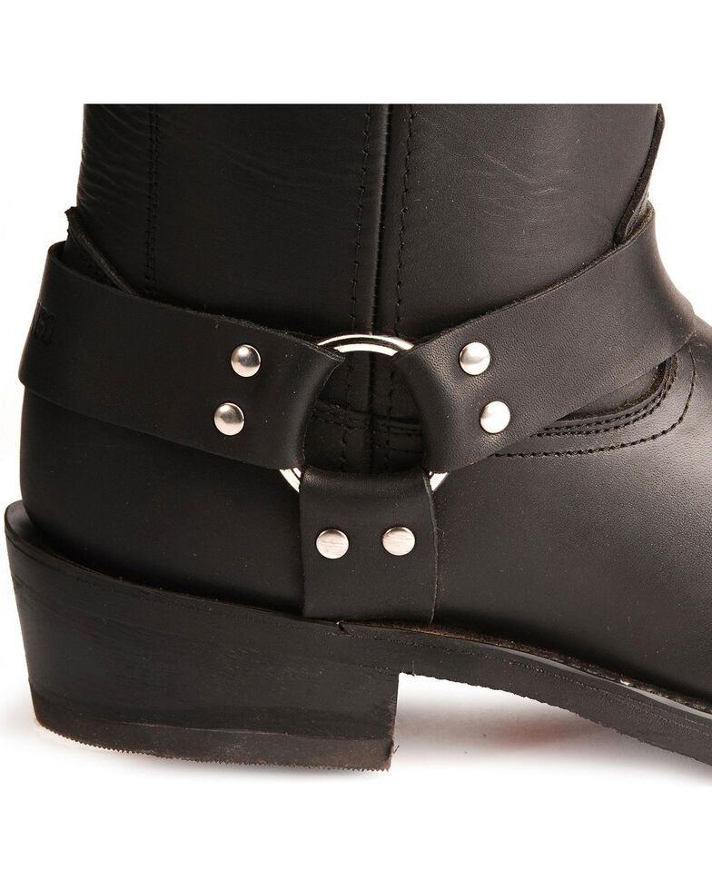 Durango Men's Harness Boots - Square Toe, Black, hi-res