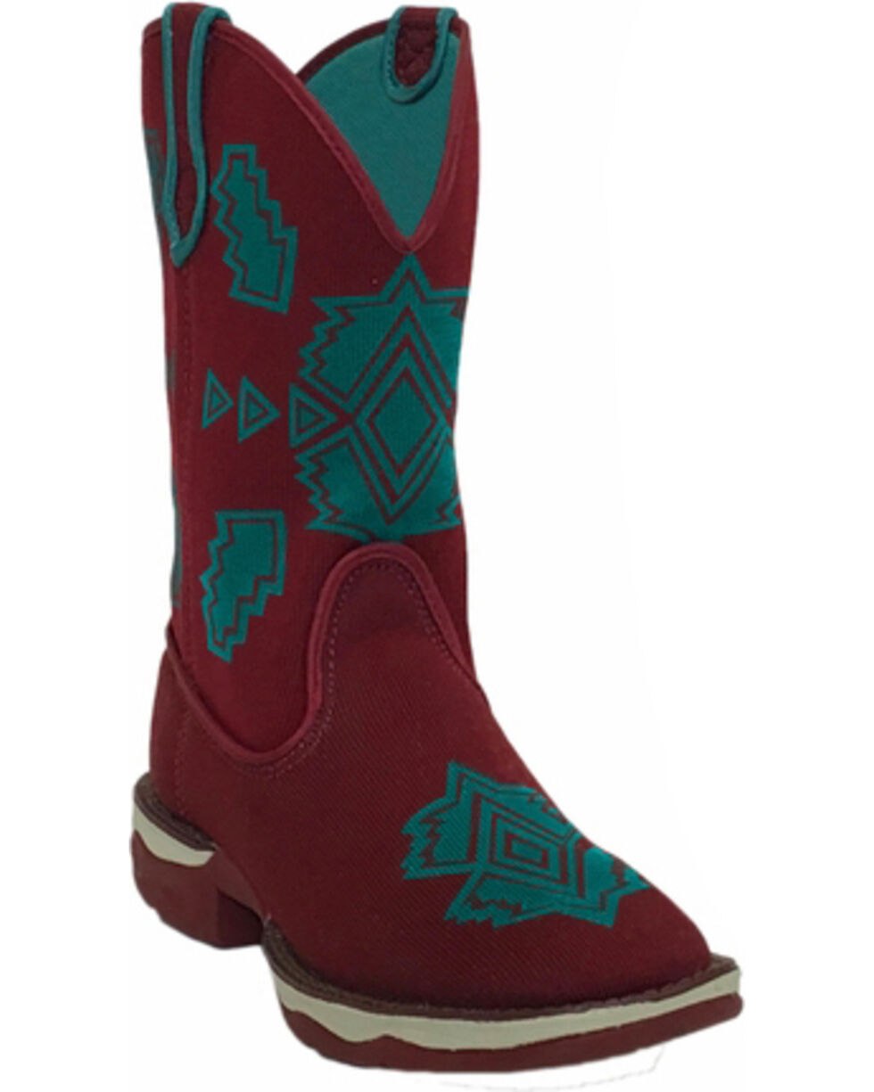 Laredo Women's Performair Washable Western Boots - Square Toe , Burgundy, hi-res
