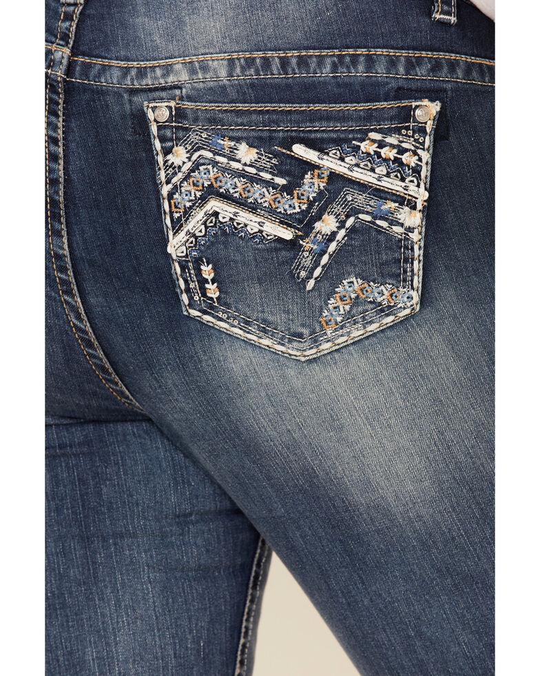 Grace in LA Women's Zip Zap Straight Leg Jeans - Plus, Blue, hi-res