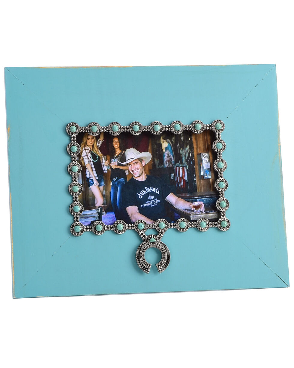BB Ranch Squash Blossom Frame, Turquoise, hi-res