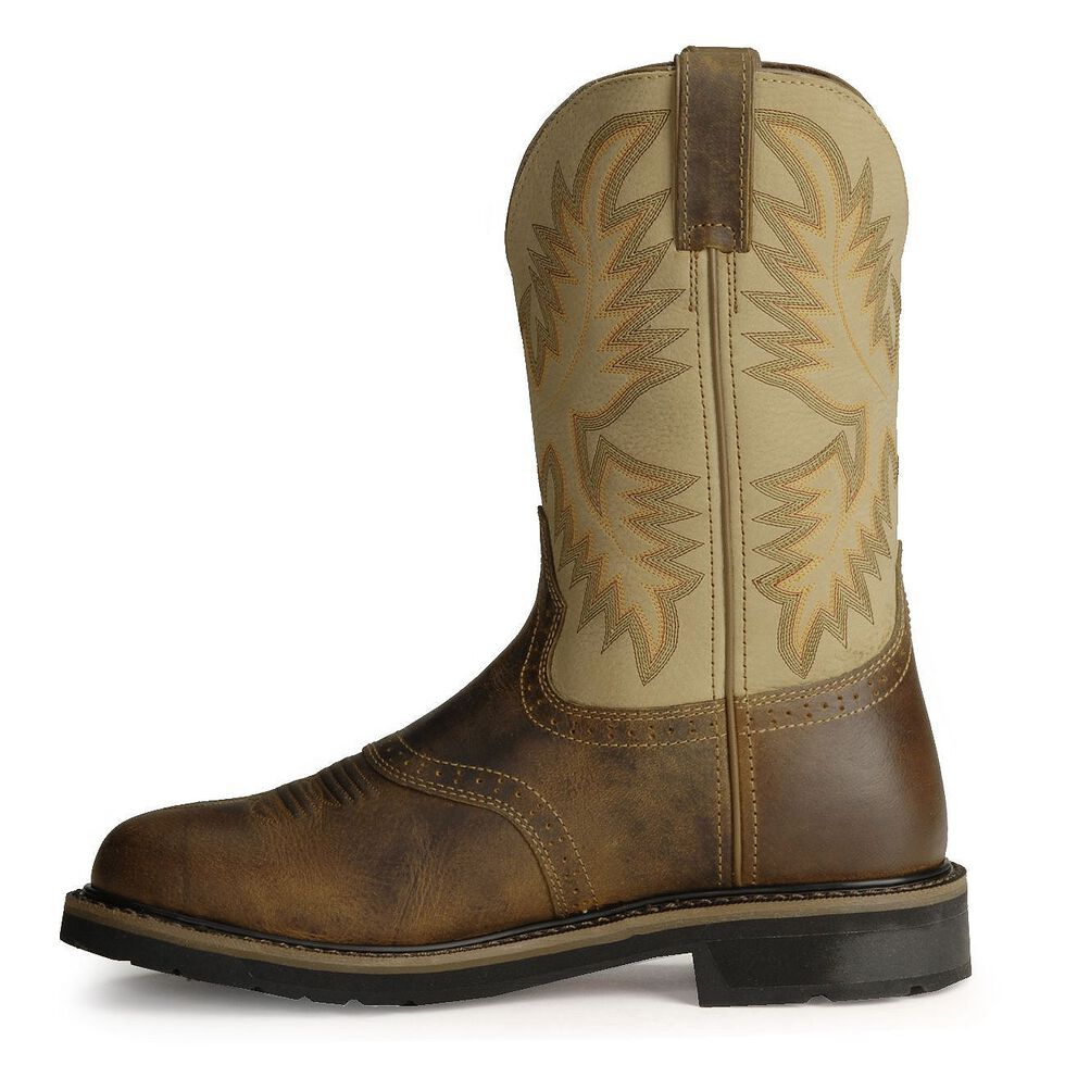 291cccb6be6 Justin Men's Stampede Superintendent Creme Work Boots - Soft Toe