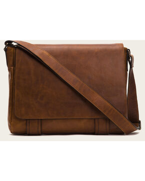 Frye Men's Logan Messenger Bag , Cognac, hi-res