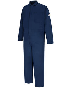 Bulwark Men's FR Mid-Weight Classic Contractor Overalls - Big, Navy, hi-res