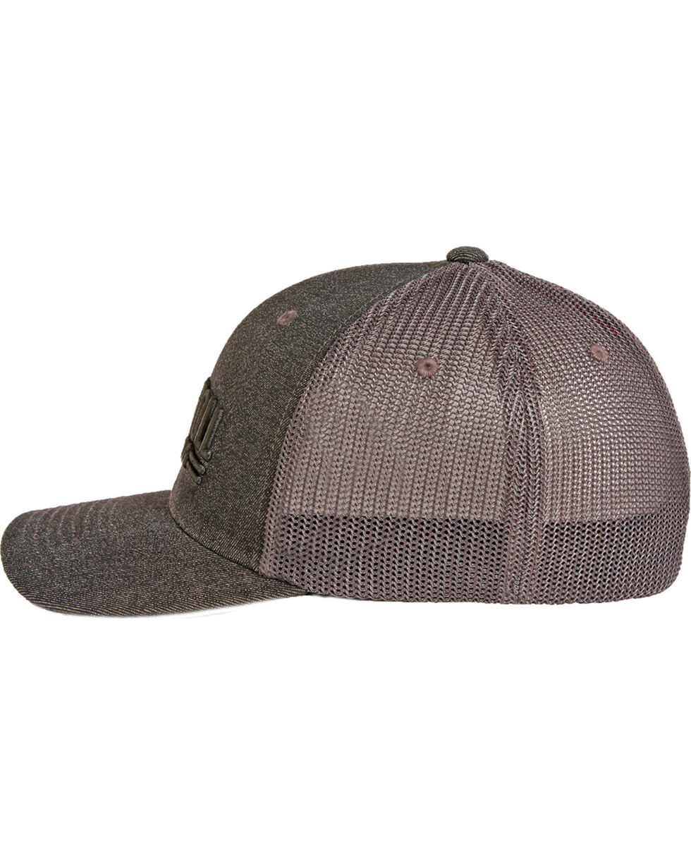 Rock & Roll Denim Men's Grey Trucker Cap , Grey, hi-res