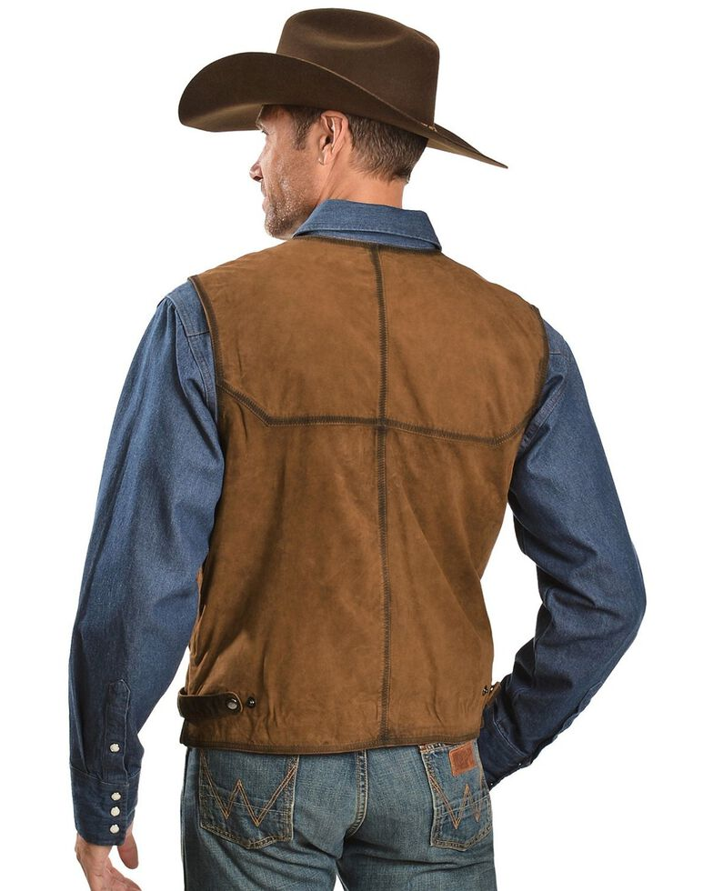 Scully Suede Leather Vest, Brown, hi-res