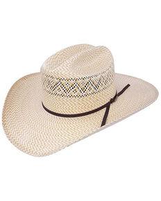 Resistol Men's 20X Natural Hard Twist Shantung Straw Western Hat , Natural, hi-res