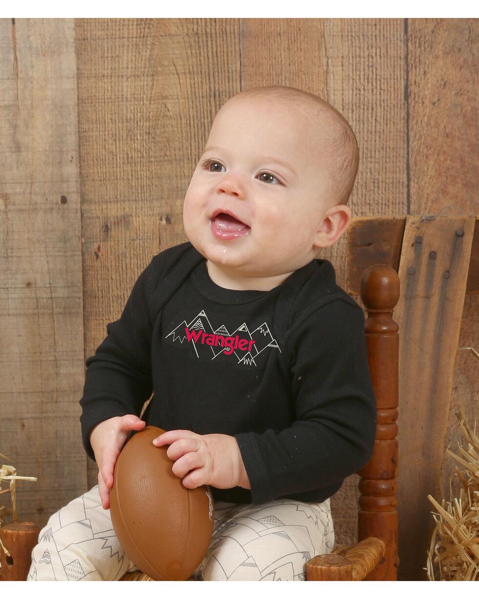 Wrangler Infant Boys' Black Mountain Graphic Onesie , Black, hi-res