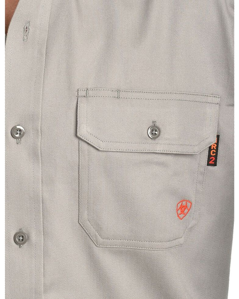 Ariat Men's Flame Resistant Solid Work Shirt, Silver, hi-res
