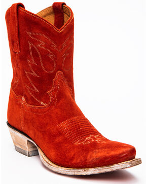 Dan Post Women's Standing Room Only Westren Boots - Snip Toe, Red, hi-res