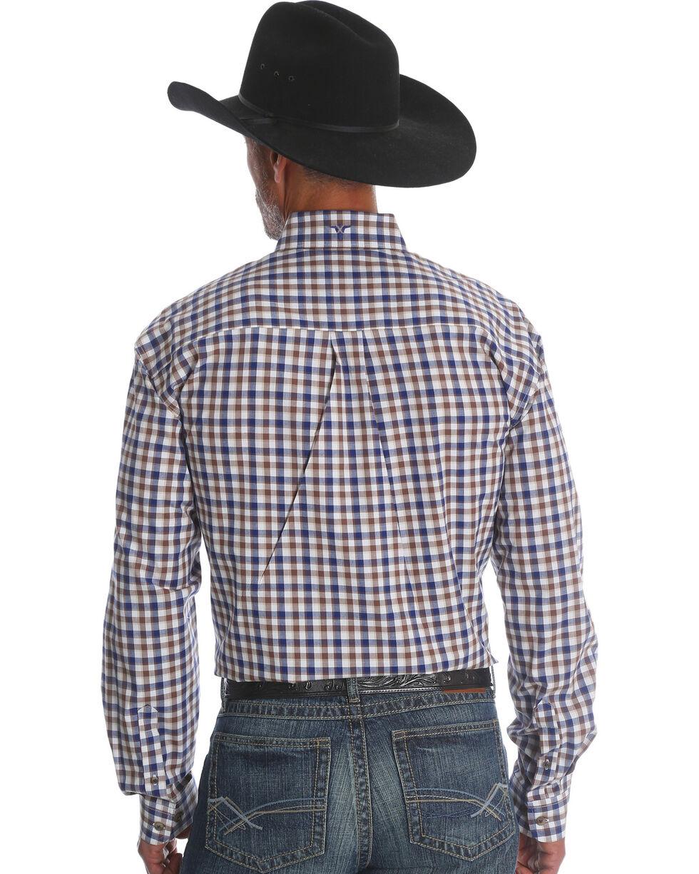 Wrangler 20X Men's Rustic Blue Advanced Comfort Competition Long Sleeve Western Shirt , Blue, hi-res