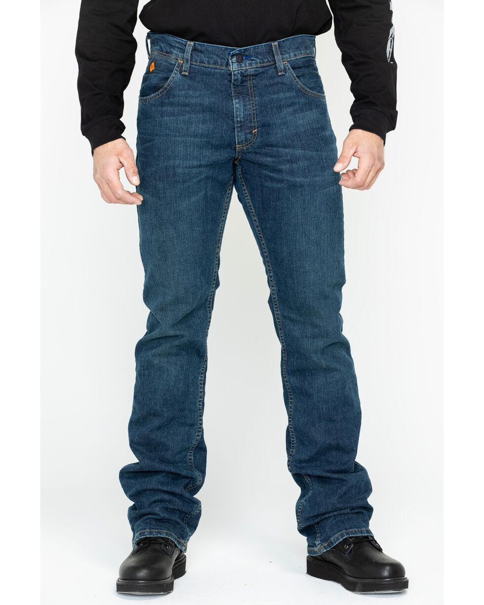 Wrangler Men's FR Advanced Comfort Slim Boot Work Jeans , Blue, hi-res