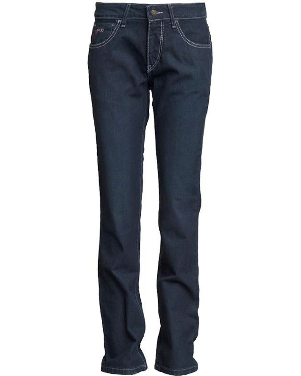 Lapco Women's FR Modern Fit Jeans - Straight Leg , Dark Blue, hi-res