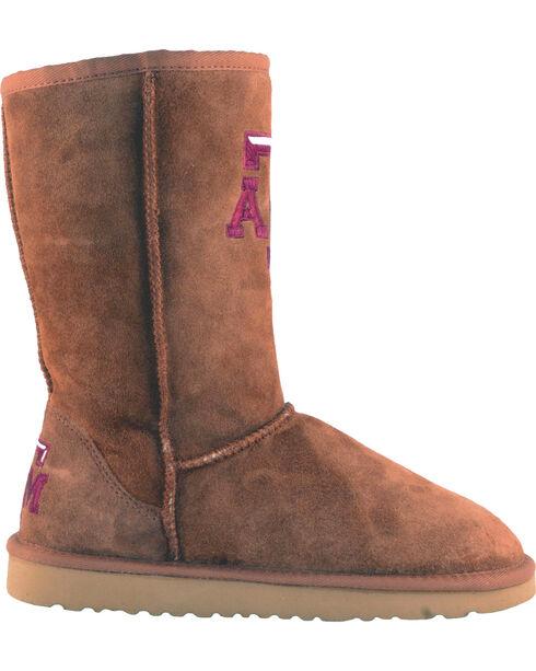 Gameday Boots Women's Texas A&M University Lambskin Boots, Tan, hi-res