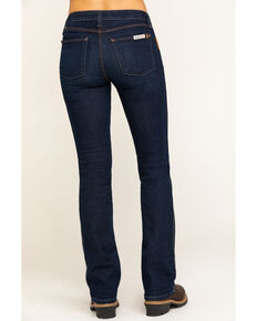 Wrangler Riggs Women's Dark 5 Pocket Bootcut Work Jeans , Blue, hi-res