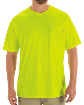 Red Kap Men's Visibility T-Shirt , Yellow, hi-res