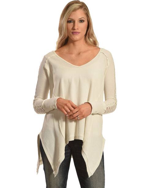 Angel Premium Women's Tandie Top, Cream, hi-res