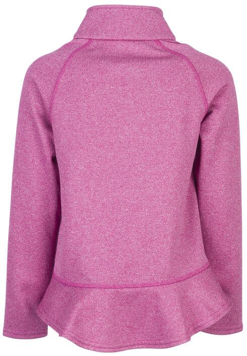 Browning Girls' Fuchsia Zinnia Quarter Zip Pullover , Fuchsia, hi-res