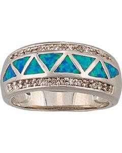 Montana Silversmiths Trickle Creek Opal Ring, Silver, hi-res